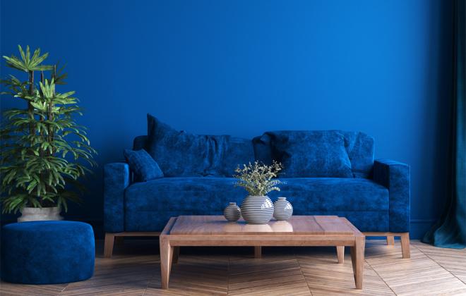 Kolor classic Blue w mieszkaniu